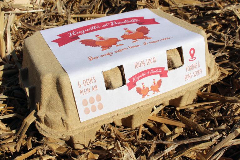 Huguette et Paulette ont désormais leurs boîtes d'œufs dédiées !